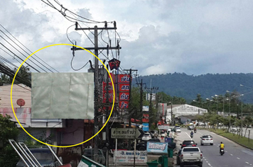 Billboard for rent in zone Takuapa