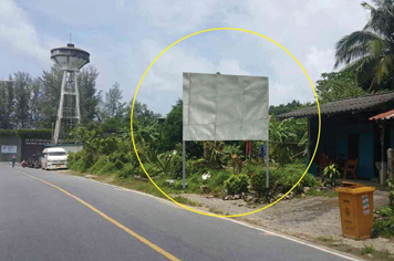 Billboard for rent in zone Nai-Yang